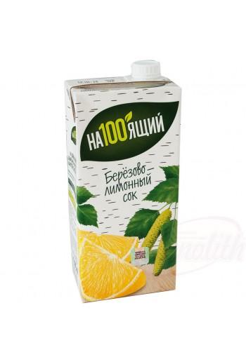 Сок березово-лимонный...