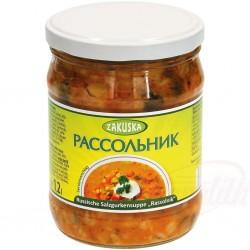 Русский суп с солеными...